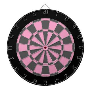 Dart Board: Soft Pink, Grey, And Black Dartboard