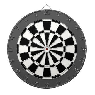Dart Board: White, Black, And Charcoal Gray Dartboard