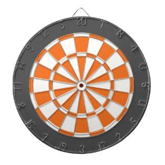 Dart Board: White, Orange, And Charcoal Gray Dartboard