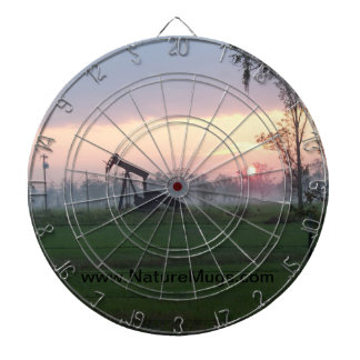 Dart Board with a Texas Sunset