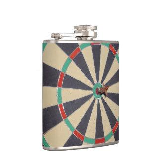 Dart In A Dartboard Bullseye, Hip Flask