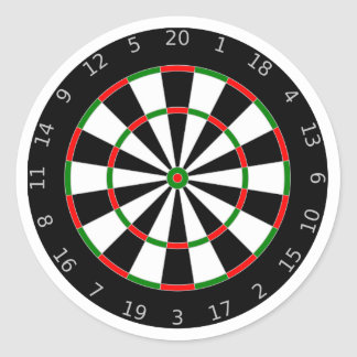 Dartboard background classic round sticker
