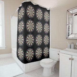 Dartboard_Bulls_Eye_Bathroom_Shower_Curtain Shower Curtain