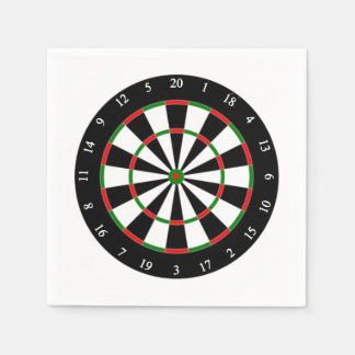 Dartboard Father's Day Party Paper Napkins