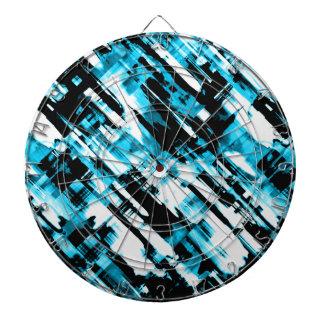 Dartboard Hot Blue Black abstract digitalart G253
