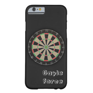 Dartboard Name Monogram Barely There iPhone 6 Case