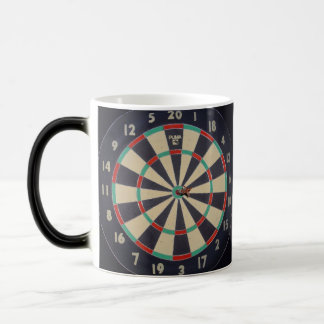 Dartboard With Dart In Bullseye, Magic Mug