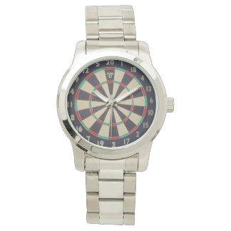 Dartboard With Dart In Bullseye, Watch
