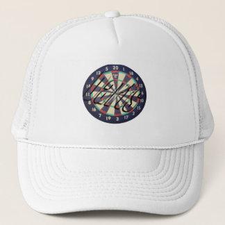 Dartboard With Inverted Darts Logo, Trucker Hat