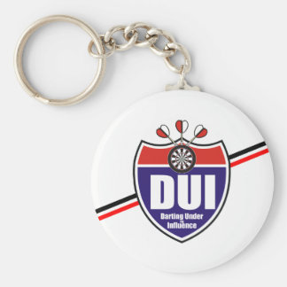 Darting Under the Influence Darts Team Key Ring