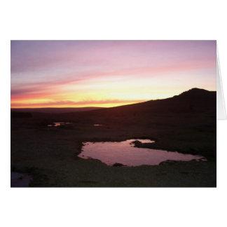 Dartmoor morning frost card