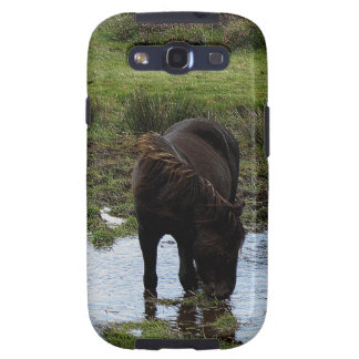 Dartmoor Pony Drinking At Watering Hole Galaxy SIII Cover