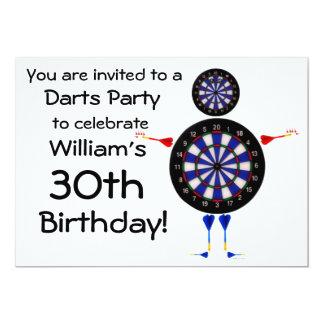 Darts Birthday Party Invitation