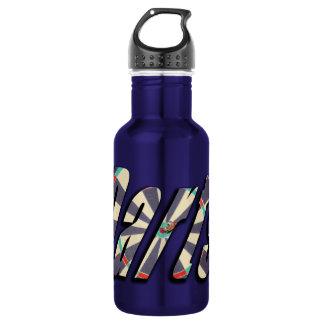 Darts Dimensional Logo, Blue Water Bottle. 532 Ml Water Bottle