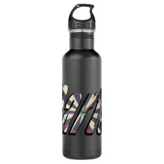 Darts Dimensional Logo, Large Black Water Bottle. 710 Ml Water Bottle