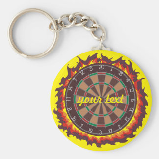 Darts Game Personalized Key Ring