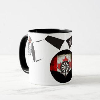 Darts Man Coffee Mug: Canadian Darts Mug