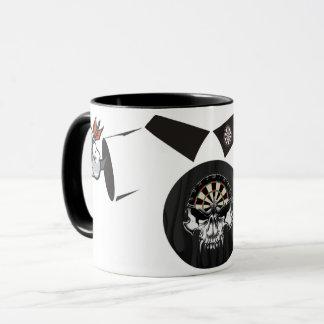 Darts Man Coffee Mug: Darts Skull Mug