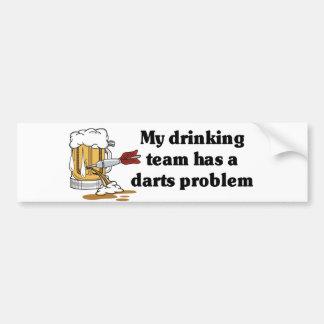 Darts Team Car Bumper Sticker