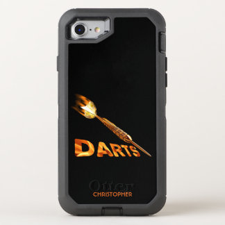 Darts With Golden Dart In Flames With Stylish Text OtterBox Defender iPhone 8/7 Case