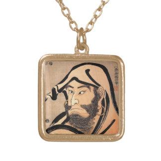 Daruma by Kuniyoshi Gold Plated Necklace