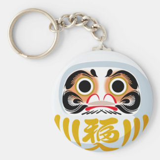 Daruma Doll Basic Round Button Key Ring