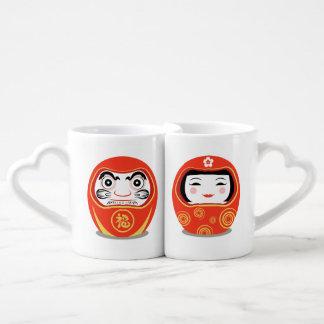 Daruma Doll Coffee Mug Set