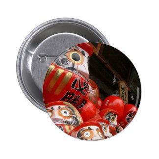 Daruma San Japanese Good Luck Dolls 6 Cm Round Badge