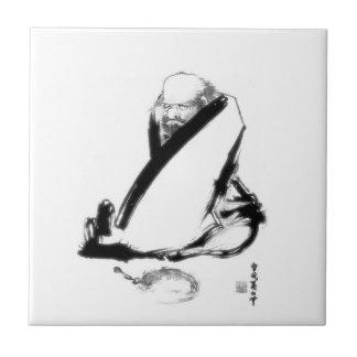 Daruma zen meditation ceramic tile