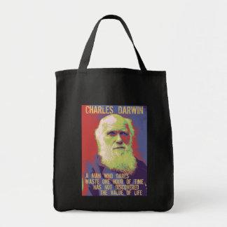 Darwin 1 grocery tote bag