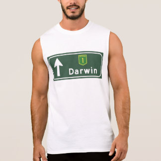 Darwin, Australia Road Sign Sleeveless Shirt