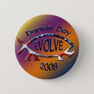 darwin day 08 6 cm round badge