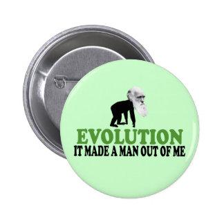 Darwin evolution 6 cm round badge
