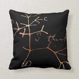 Darwin, I think tree of life Cushion