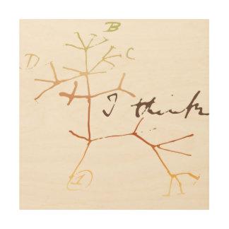 Darwin, I think tree of life Wood Prints
