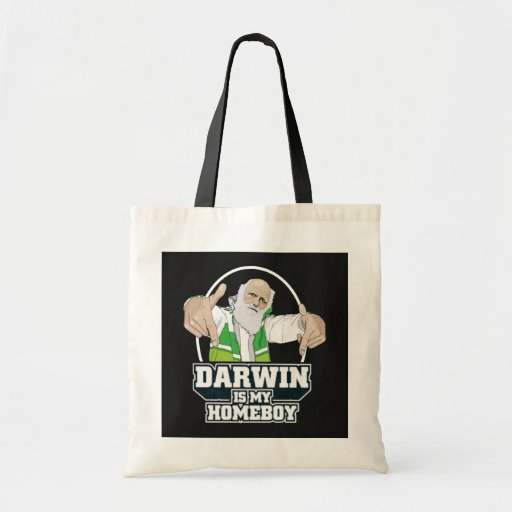 Darwin Is My Homeboy (Full Color) Canvas Bags