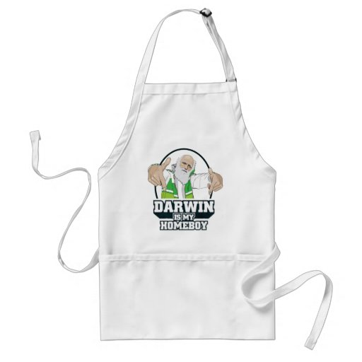 Darwin Is My Homeboy (Full Colour) Standard Apron