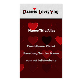 Darwin Loves You Double-Sided Standard Business Cards (Pack Of 100)