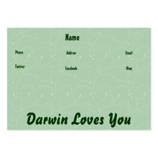 Darwin Loves You Pack Of Chubby Business Cards