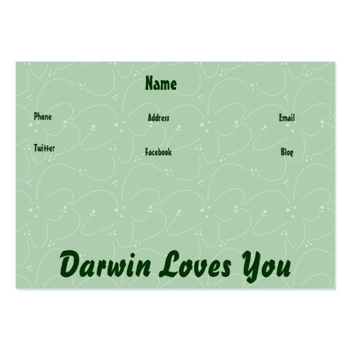 Darwin Loves You Business Card Template