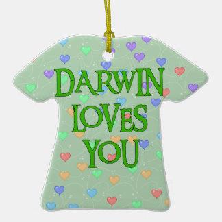 Darwin Loves You Christmas Tree Ornament