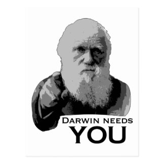 Darwin Needs You! Postcard