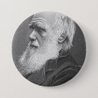 Darwin Portrait 7.5 Cm Round Badge