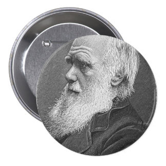 Darwin Portrait 7.5 Cm Round Badge