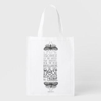 Darwin Quote Reusable Tote Bag