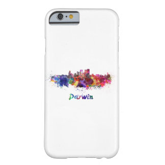Darwin skyline in watercolor barely there iPhone 6 case