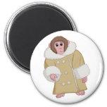 Darwin the Ikea Monkey 6 Cm Round Magnet