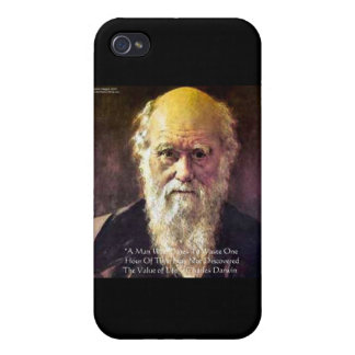 "Darwin ""Value Of Life"" Wisdom Quote Gifts & Cards Cover For iPhone 4"