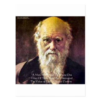 """Darwin """"Value Of Life"""" Wisdom Quote Gifts & Cards Postcard"""