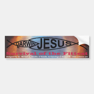 Darwin vs. Jesus bumper sticker